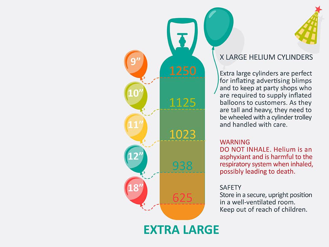 xlarge helium cylinder